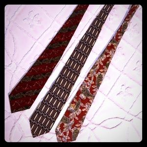 Men's necktie lot of 3